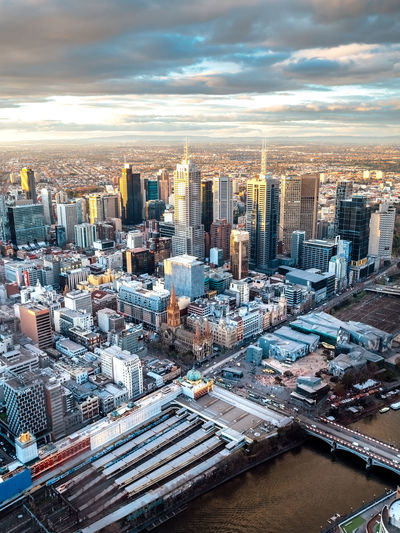 Melbourne City at sunset from Eureka Skydeck Architecture Australia City Cityscape Dramatic Sky From Above  Background Backgrounds Buildings City From Above City Sunset City View  Cityscapes Dramatic Landscape Eureka Skydeck 88 Evening Golden Hour High Angle View Landscape Melbourne Skyline Skyscraper Sunset Travel Destinations Urban Skyline