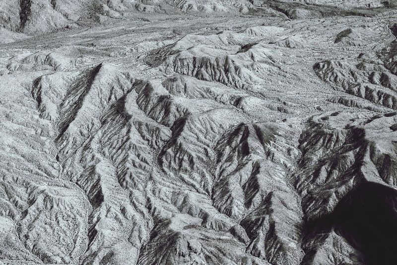 Full frame shot of mountain ridges