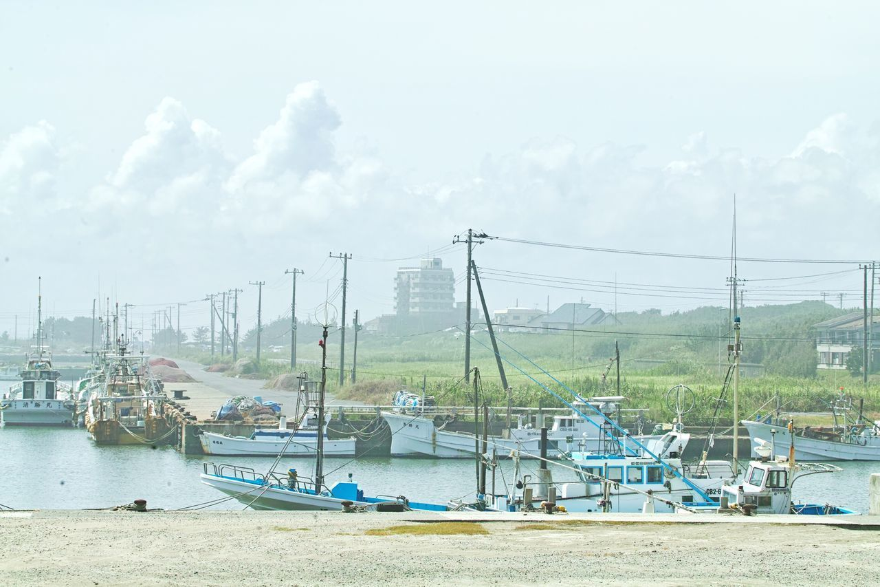 nautical vessel, transportation, water, mode of transportation, sky, nature, moored, day, sea, cloud - sky, harbor, sailboat, no people, mast, waterfront, pole, outdoors, land, travel, fishing boat, fishing industry, port
