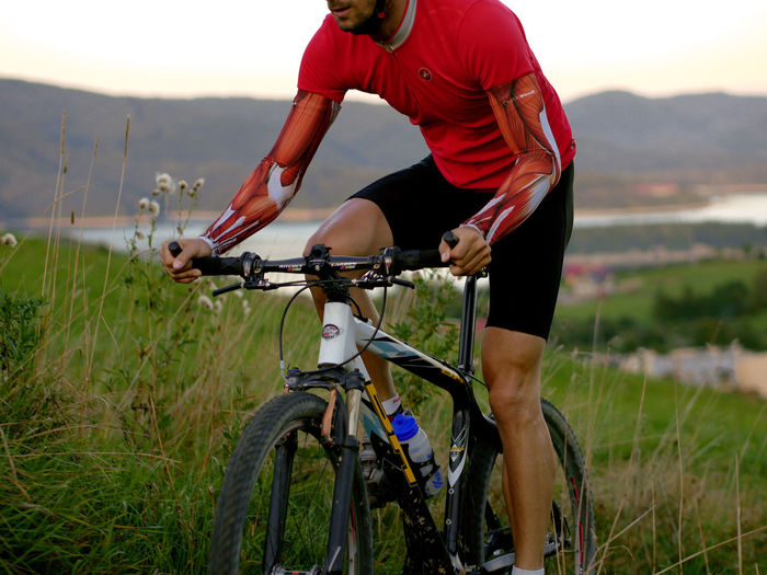 more info on: http://muscleskinsuit.com/ Armwar Athlete Apparel Bicycling Body & Fitness Cycling Day Extreme Sports Kids Leg Leisure Activity Lycra Mountain Muscle Muscles Music On The Move Outdoors Outfit Red Relaxing Sport Sports Taking Photos Water