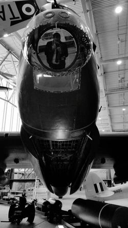 Self Portrait Photographer Air Vehicle Transportation Airplane Mode Of Transport Indoors  Aerospace Industry Low Angle View Airplane Hangar EyeEm Ready
