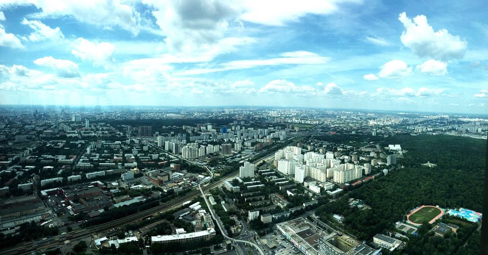 Moscow City View  Ostankinotvtower From The Window From Where I Stand From The Tower
