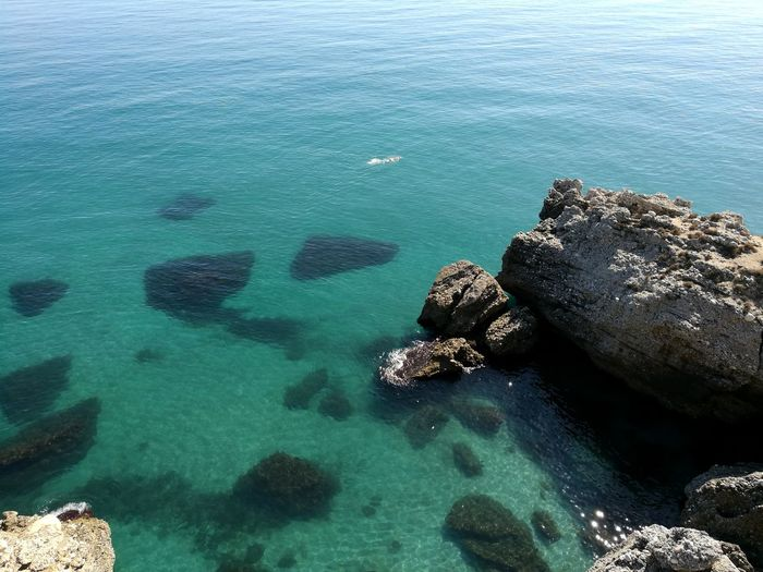 Sea Aerial View High Angle View Rock - Object Nature UnderSea Water Beach Underwater Day No People Eyesight Outdoors Sea Life Sea View Seaside Seascape