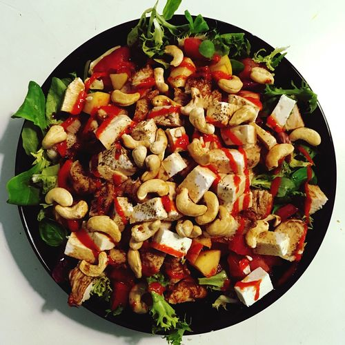 Healthy Food Salad Cashews Sriracha Squared Circle Food Porn Daily Salad