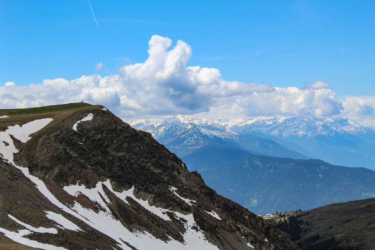 Italien Nature Alps Alps Italy View Südtirol Southtyrol  Natur Sky Cloud - Sky Mountain Scenics - Nature Nature Mountain Range Beauty In Nature Snow Tranquil Scene Tranquility Day Blue Cold Temperature Winter No People Low Angle View Outdoors Non-urban Scene Environment Snowcapped Mountain