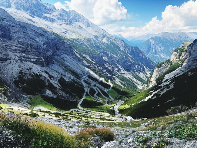 Stelvio Paceful Italy Stelvio Mountain Road Mountain Beauty In Nature Scenics - Nature Mountain Range Tranquility Tranquil Scene Nature Day Cold Temperature Cloud - Sky Winter Plant Snow Environment Tree Sky Non-urban Scene No People Landscape Idyllic EyeEmNewHere