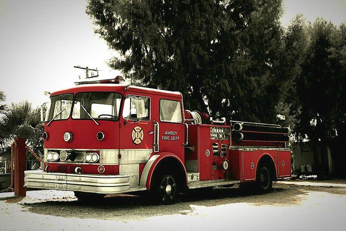 Amboy Firefighter Firedepartment Firetruck
