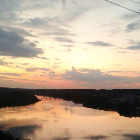 умань река осташовка Закат небо красота лав