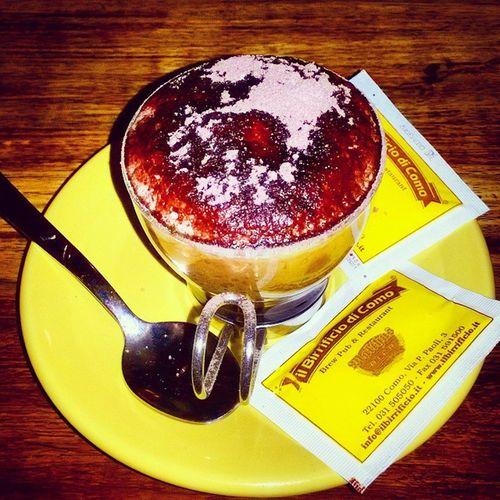 Caffèmarocchino Birrificiodicomo Lunedìsera Forseèunpotardiperilcaffè mahodormitolostesso colazioneitaliana postrapporti con gli amici arbitri chegalli miportounabirraacasa