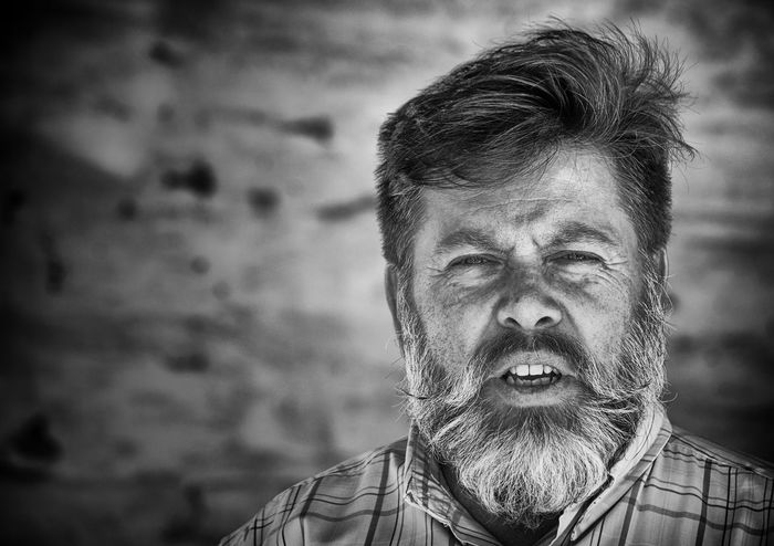 Bearded Bearded Man Black And White Portrait Black And White Portrait Photograph Close-up Day Headshot Human Face Lifestyles Looking At Camera Old Man Portrait One Person Outdoors People Portrait Real People Senior Adult