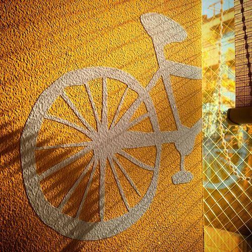 Bicycle Wanttoride Logo Sun Yellow Shadows Shakujiikoen Cafe Window