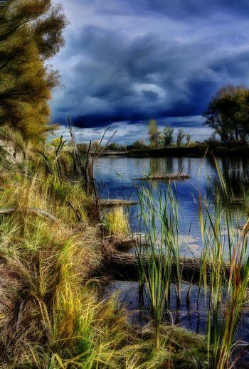 Дачное озеро встречает осень. Nature Outdoors Landscape_Collection Landscape Russia Clouds And Sky