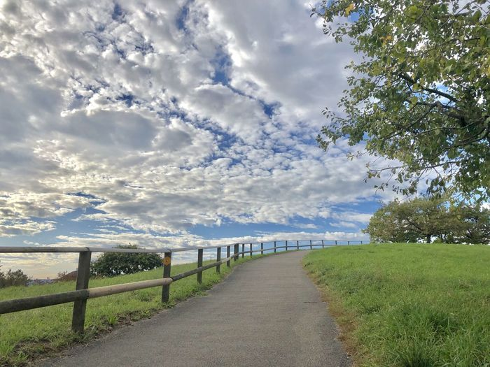 Clouds, Fence &