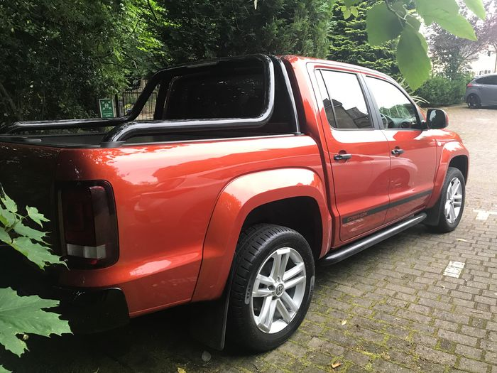 Red Tree Transportation Day Car No People Outdoors Stationary Tire Volkswagen Amarok