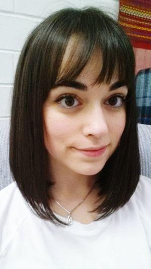 New Haircut Hi! That's Me Girl Selfies Bangs Fresh Hair Cut