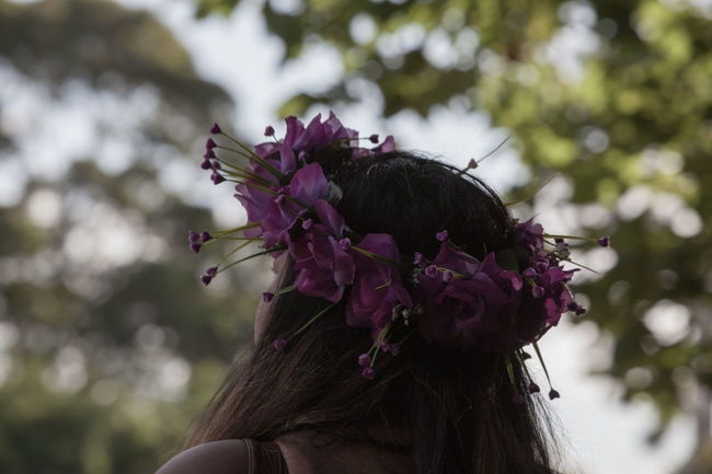 Aukland Blooming People And Places Crown Dreaming People Together Flower Head Flowers Fragility Freshness Hair HEAD In Bloom Leaf Moony Nature New Zealand Pasifika Pink Purple The Portraitist - 2016 EyeEm Awards The Essence Of Summer- 2016 EyeEm Awards Feel The Journey Taylored To You Fine Art Photography Summer Exploratorium