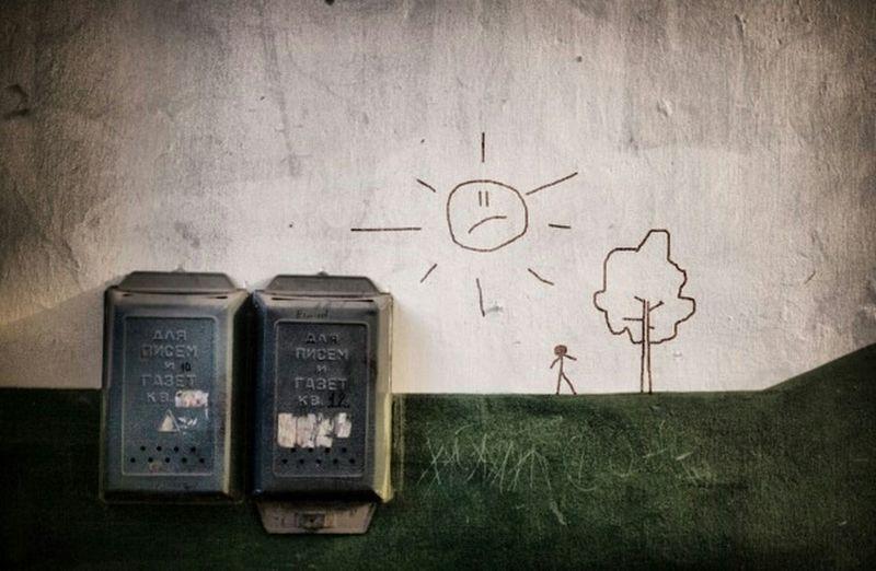 подъездное почта стена подъезд ящик