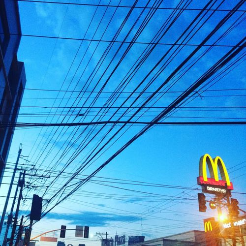 Mcdonalds McDonald's Lines Blue Sky First Eyeem Photo