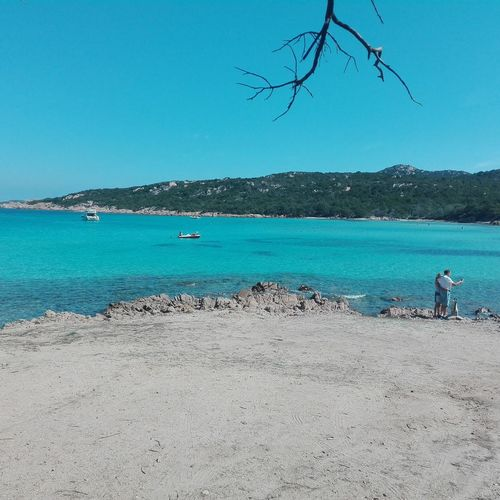 People And Places spiaggia del piccolo pevero in Sardegna Blue Water Beach Vacations Tranquility Clear Sky Tourism Summer Day Beauty In Nature Portocervo😍 Sardegna