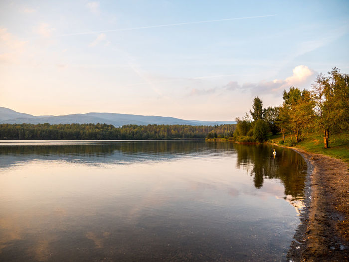 Barbora lake. Beauty In Nature Calm Calm Chill Cloud - Sky Lake Majestic Mountain Mountain Range Nature No People Non-urban Scene Place Reflection Scenics Sky Tree Water Water Surface Waterfront