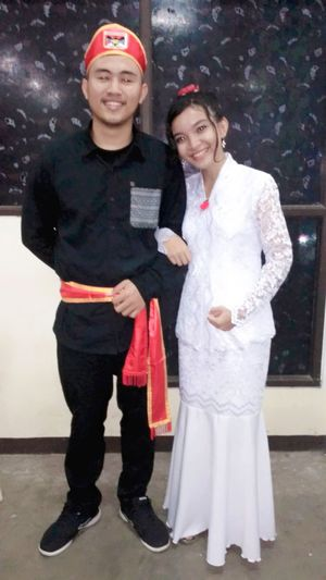 Love is culture of own self . Indonesia Kawanua. Two People Standing Outdoors Day first eyeem photo Winter People Adult Portrait Looking At Camera Togetherness Child Young Women Young Adult Females Snowflake Wedding Dress Bride Warm Clothing love is culture of own self