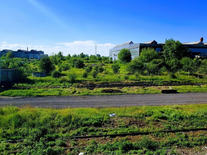 Outdoors Freshness No People Rural Scene Nature Sky Railroad Station