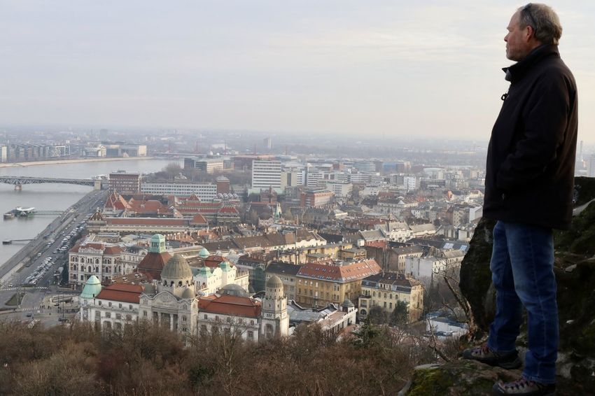Budapest, Hungary Danube River Eastern Europe City View  Eastern Culture Historical Sights Sightseeing Tourist Destination Tourist Looking Down To City