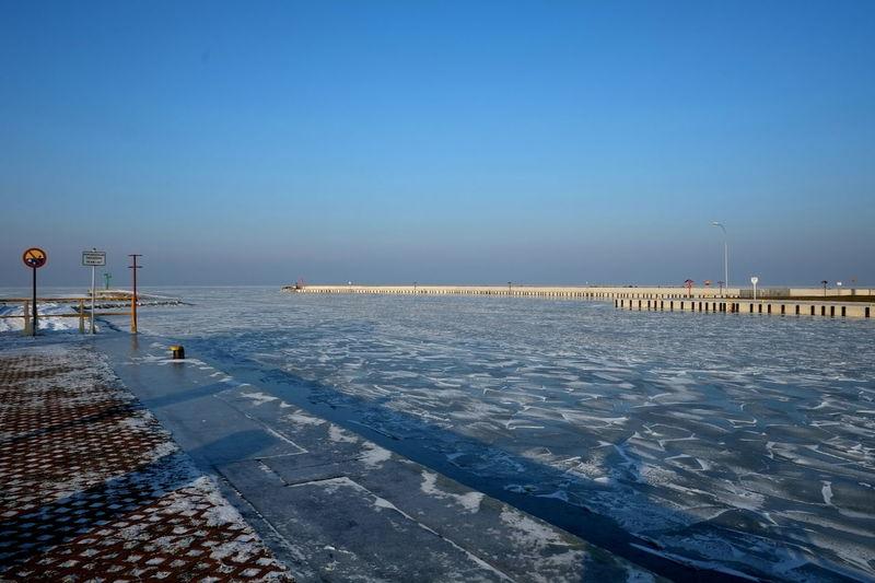 Frozen Sea at Tolkmicko, Poland Baltic Sea Day Frozen Sea Ice Lod Mrożone Morze No People Outdoors Poland Polska Port Snow Sunshine Słońce Tolkmicko Water Winter Zima śnieg