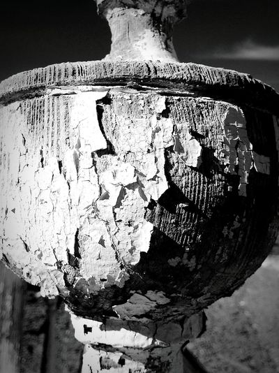 Dayton Cemetary Nevada Old Ruin Old Wood Monument Chipped Paint Finial Pattern, Texture, Shape And Form Black And White Collection  Light And Shadows Lead Paint