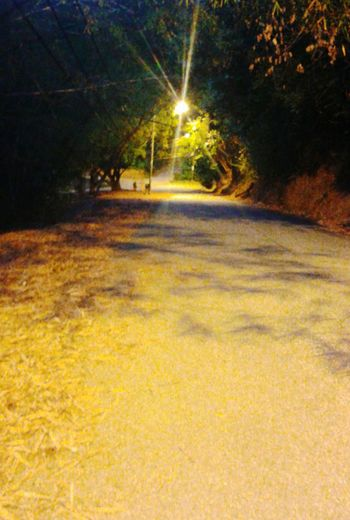 Lonely walk at night... Excercising Scenicview Trinidad