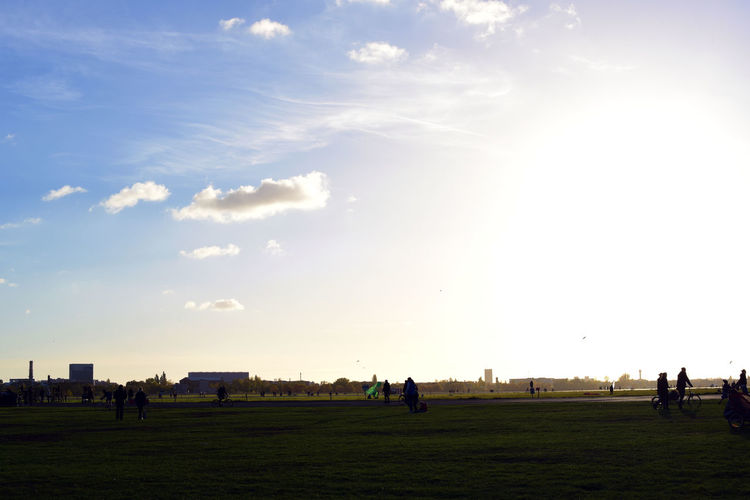 Adult Autumn Cloud - Sky Day Go For A Walk Outdoors Park People Sky Soccer Player Sport Strolling Strolling Around Sunset