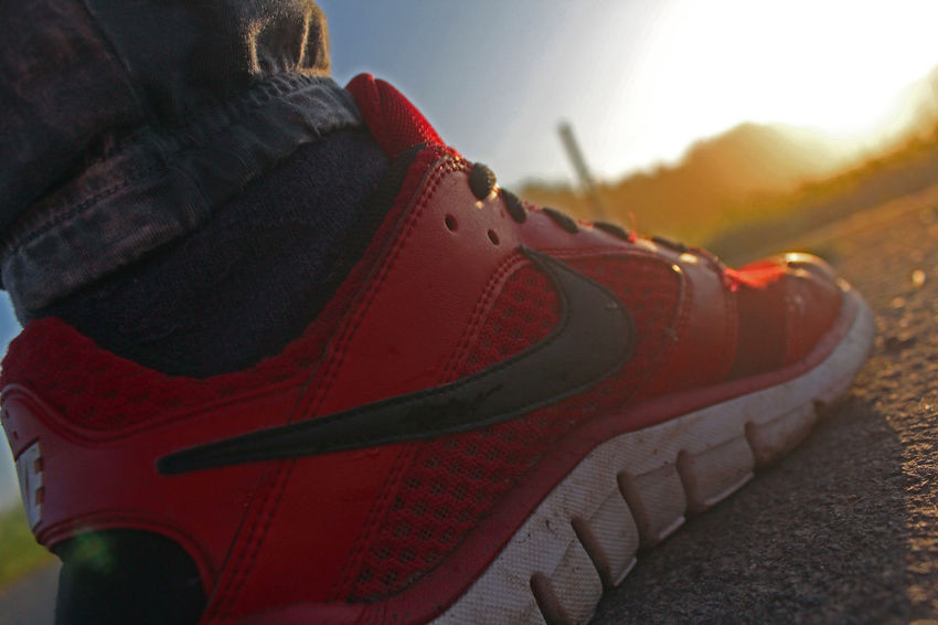Beautiful Nice View Nike✔ Art Canon Canonphotography Close-up Day Enjoying Life Eyemphotography Ice Skate Low Section Nature Nike No People Outdoors Pair Red Color Shoe Shoelace Shoes Sun Sunrise Sunrise_sunsets_aroundworld Winter