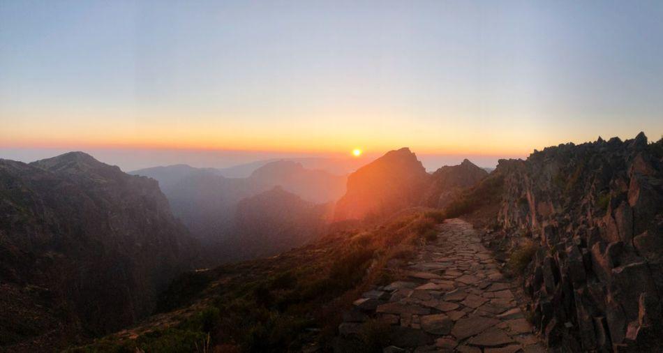 Tourist Destination EyeEm Selects Sky Scenics - Nature Mountain Beauty In Nature Sunset Tranquility Mountain Range No People Idyllic