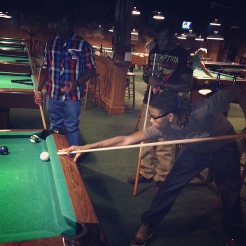 ??? playing pool the other day King Of 8-ball Dreads