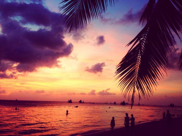 Sunrise Hello World Enjoying Life Beach Boracay Philippines IRINAKOLPAKOVA