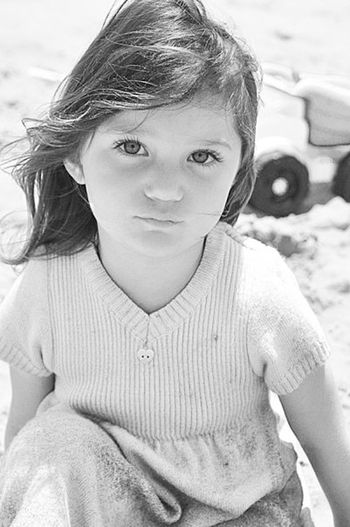 Child Portrait One Girl Only Looking At Camera Children Only Childhood One Person Front View Girls Close-up People Outdoors Day Human Body Part Human Eye Beachphotography Morro Bay Beautiful Black And White Portrait