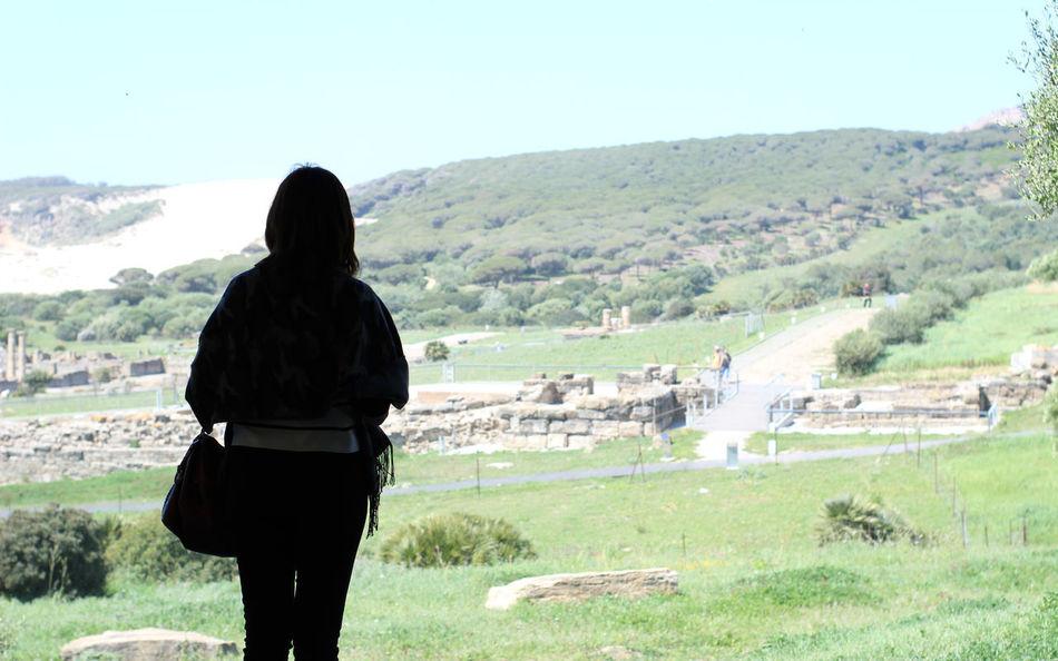Baelo Claudia Siluetas Ancient Ruins Day Field Mountain Nature One Person Paisaje Real People Rear View Ruinas Romanas Silouette Siluet Silueta Women