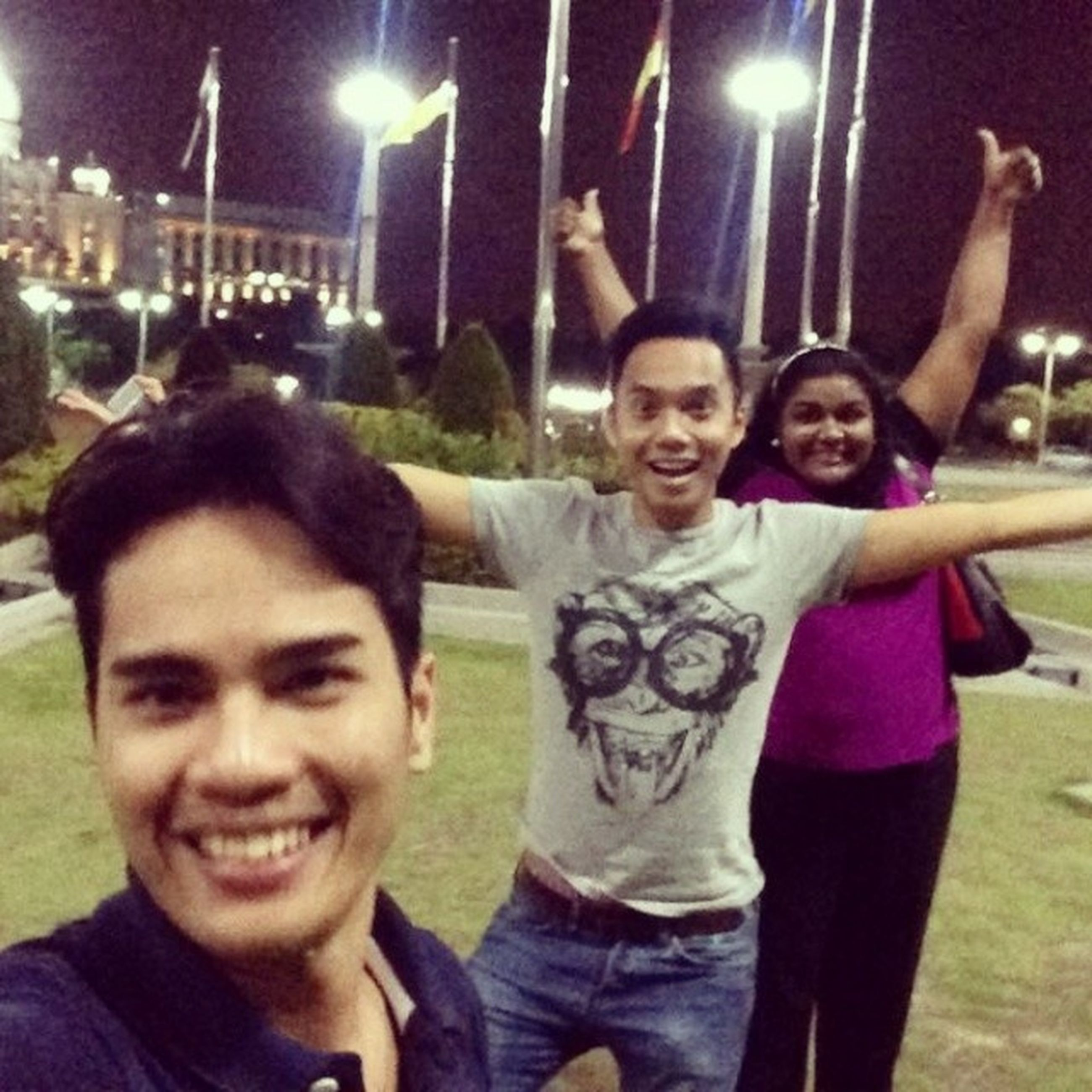 togetherness, lifestyles, bonding, leisure activity, happiness, person, love, friendship, casual clothing, smiling, portrait, front view, looking at camera, standing, fun, family, enjoyment, night