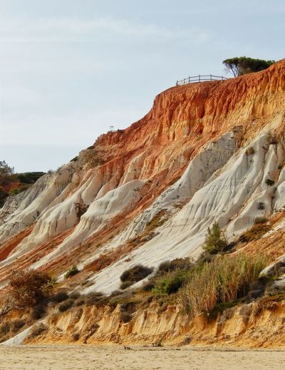 Nature Outdoors Cliff Rock - Object Scenics Tranquility Tranquil Scene Landscape Physical Geography Cliffside View Cliffs The Algarve Coastal Feature Orange Color Orange Cliffs Cliffs In The Algarve Coastal Scenery Algarve Algarve, Portugal Algarve Portugal Algarve Coastline Sky Tranquility Idyllic Scenery