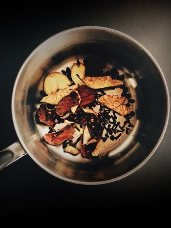 Aronia Chair Tea Aronia Chai Aroniaberries Bowl Close-up Cloves Directly Above Healthy Eating Leaf No People Preparation
