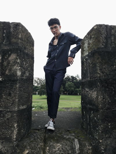 One Man Only Standing Fashion Portrait Photography The Week On EyeEm EyeEm Phillipines Cool Attitude Outdoors Casual Clothing Well-dressed Confidence