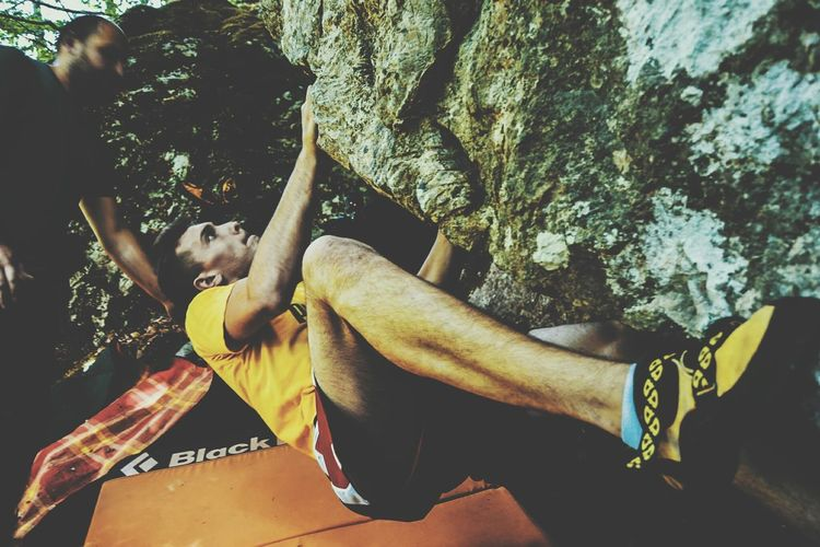 Bouldering Climbing Adults Only Adult Men Only Men People Two People Day Human Body Part Outdoors Real People Lifestyles Close-up Human Hand Young Adult