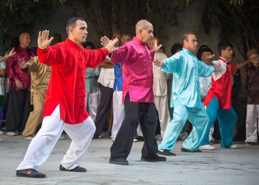 Cuban school of Wushu in Havana with about 4000 members. Martial Arts Documentary Havana Cuba Travel Storytelling Group Of People Togetherness Adult Women Men People Lifestyles