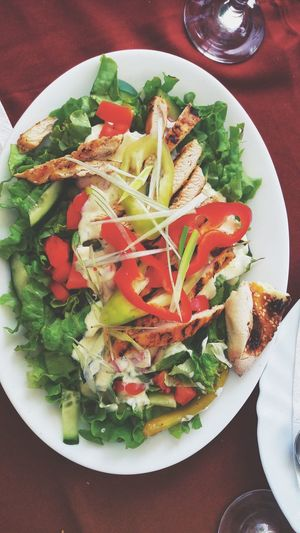 Chiken Salad Food Stories Food And Drink Healthy Eating Food Freshness Salad No People Ready-to-eat Table Vegetable Plate Salad Bowl Vegetarian Food Healthy Lifestyle Close-up Chopped
