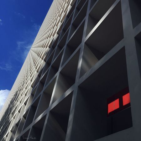 Red Architecture Built Structure Sky Building Exterior Modern Snap Everywhere Buildings & Sky Red Shadows & Lights