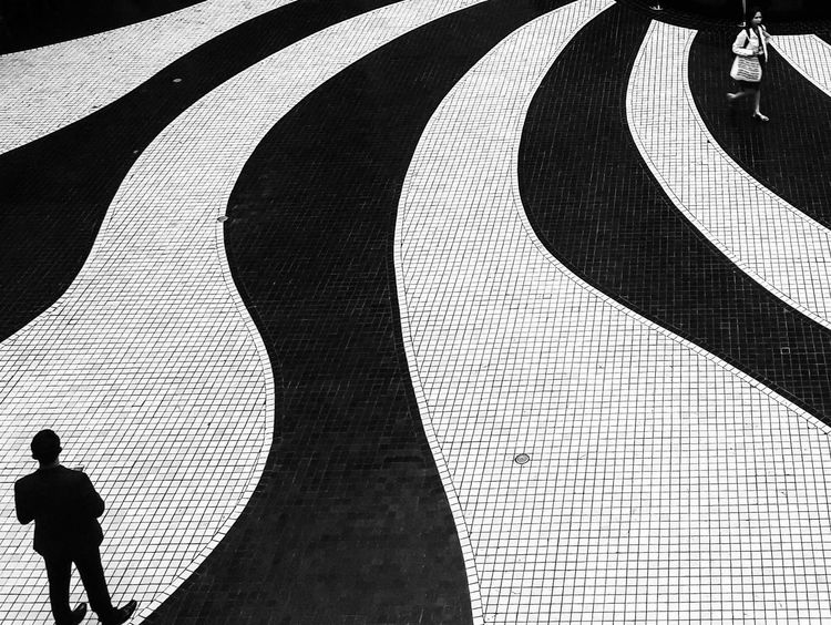 Two Sides Monochrome Photography Black And White Bnw Street Male Female Sides Pattern Tile Eyeem Philippines Welcome To Black