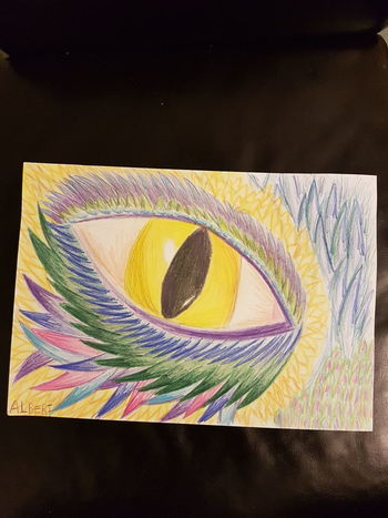 Close-up Multi Colored Purple Taking Photos Yellow ArtWork Green Color Blue Eye's Are Always Watching You Eye's Looking At You♡ Dragon Drawing Eye's