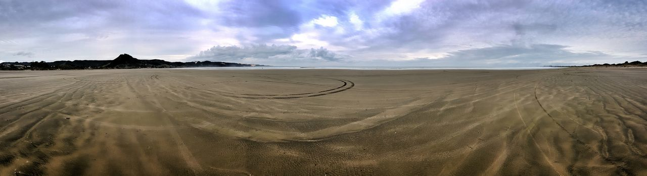 210° panorama on 90 Mile Beach. 2016 05 08 Ocean Beach Surf