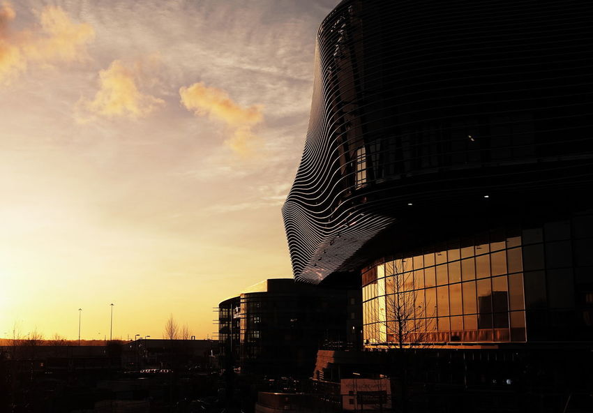Architecture Outdoors Building Exterior Low Angle View Sunset No People Illuminated Built Structure Sky SOUTHAMPTON CITY Uk