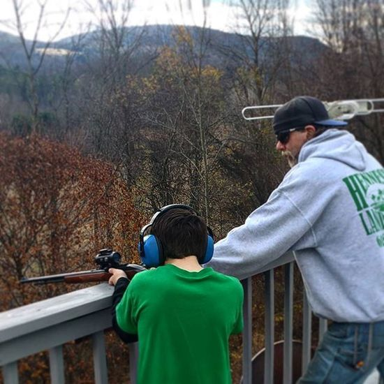 First time shooting, hit the target everytime, 100 yard shot TargetShooting 100yards .22 Rifle Shootresponsibly Teachthemyoung